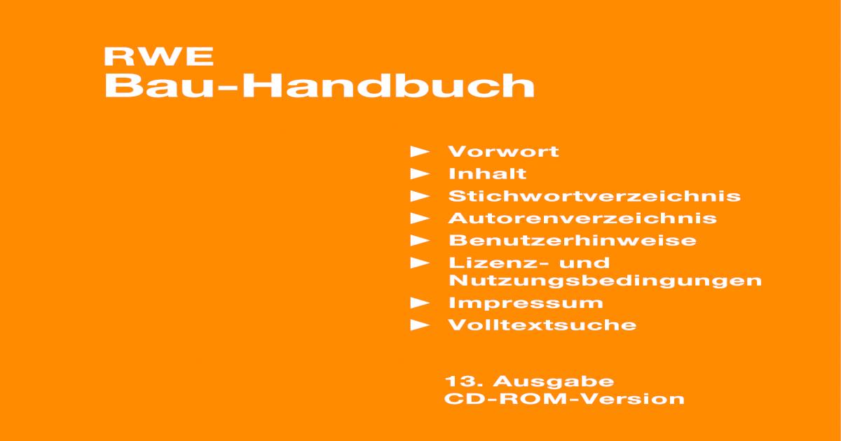 RWE Bau Handbuch - [PDF Document]