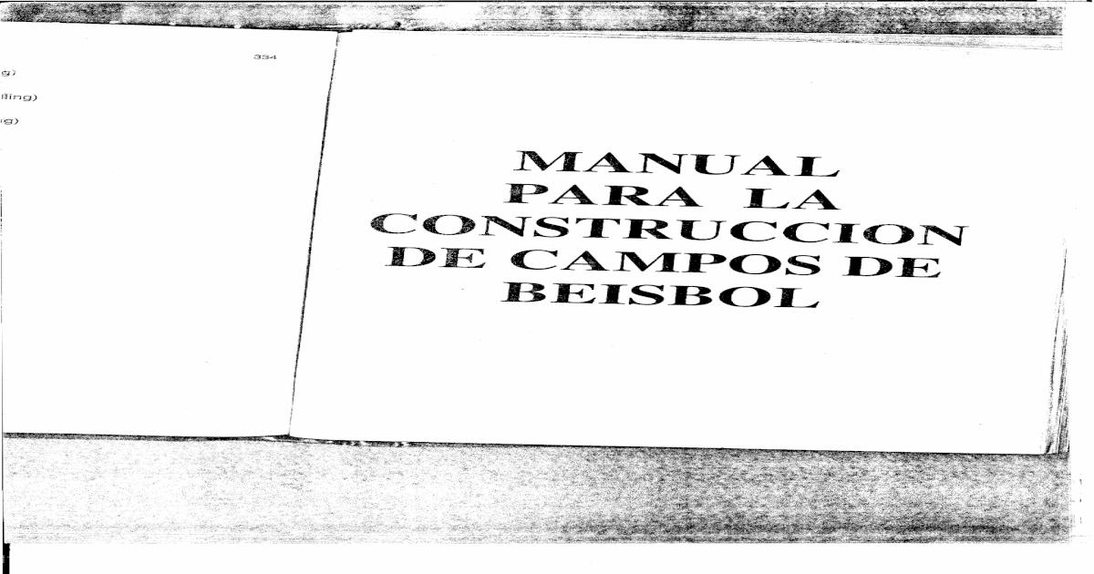 Manual Construccion Campo de Beisbol - [PDF Document]
