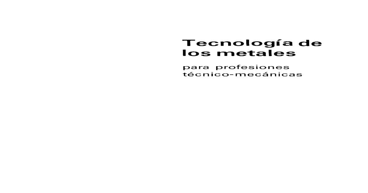 Tecnologia De Los Metales Appold Pdf