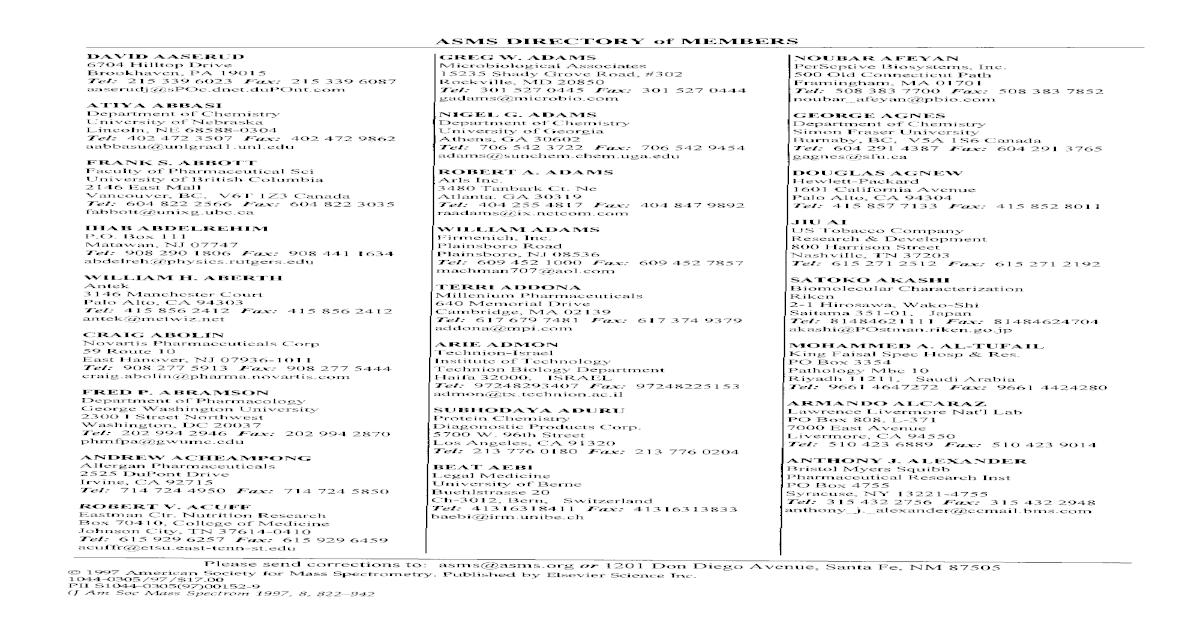 ASMS directory of members - [PDF Document]