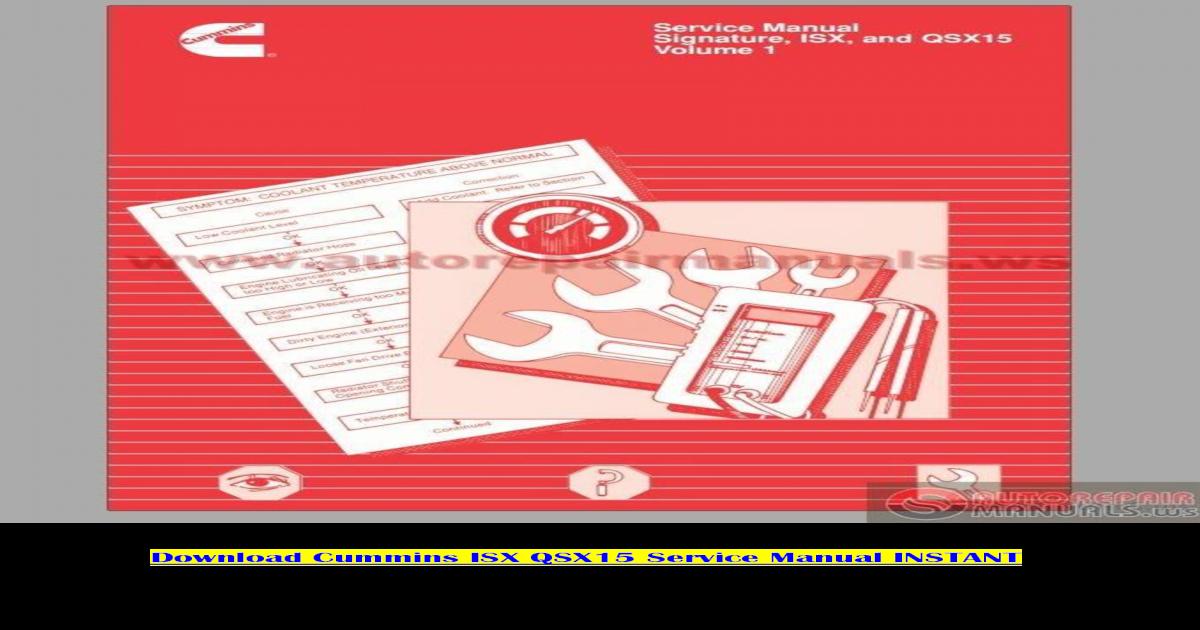 Cummins isx service manual pdf - [PDF Document]