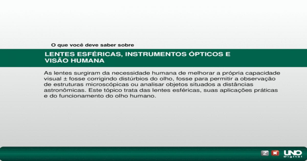 d506446bfd LENTES ESFRICAS, INSTRUMENTOS PTICOS E VISO HUMANA - [PPT Powerpoint]