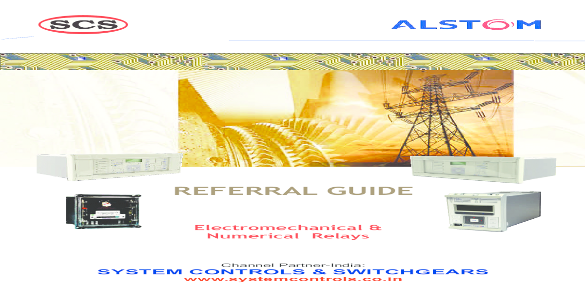 relay referral guide alstom pdf document rh vdocuments mx Box Type Relay Refrigeration ABB Relays Manuals