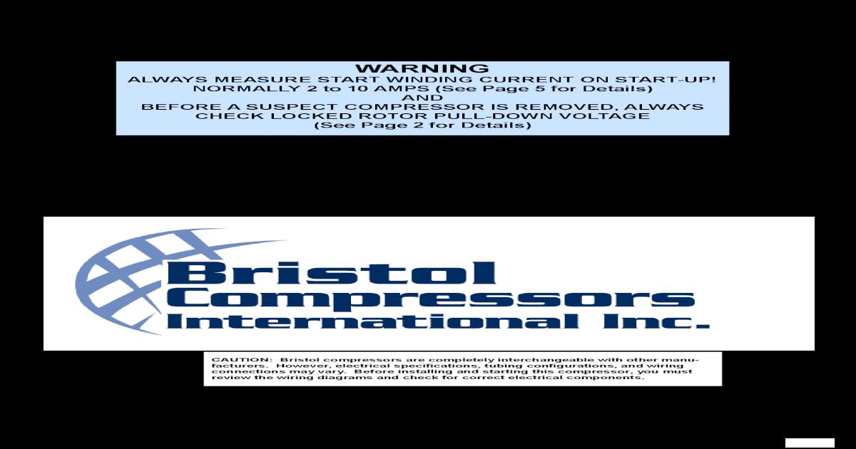 Wiring Diagram For Bristol Compressor - Wiring Diagrams Digital