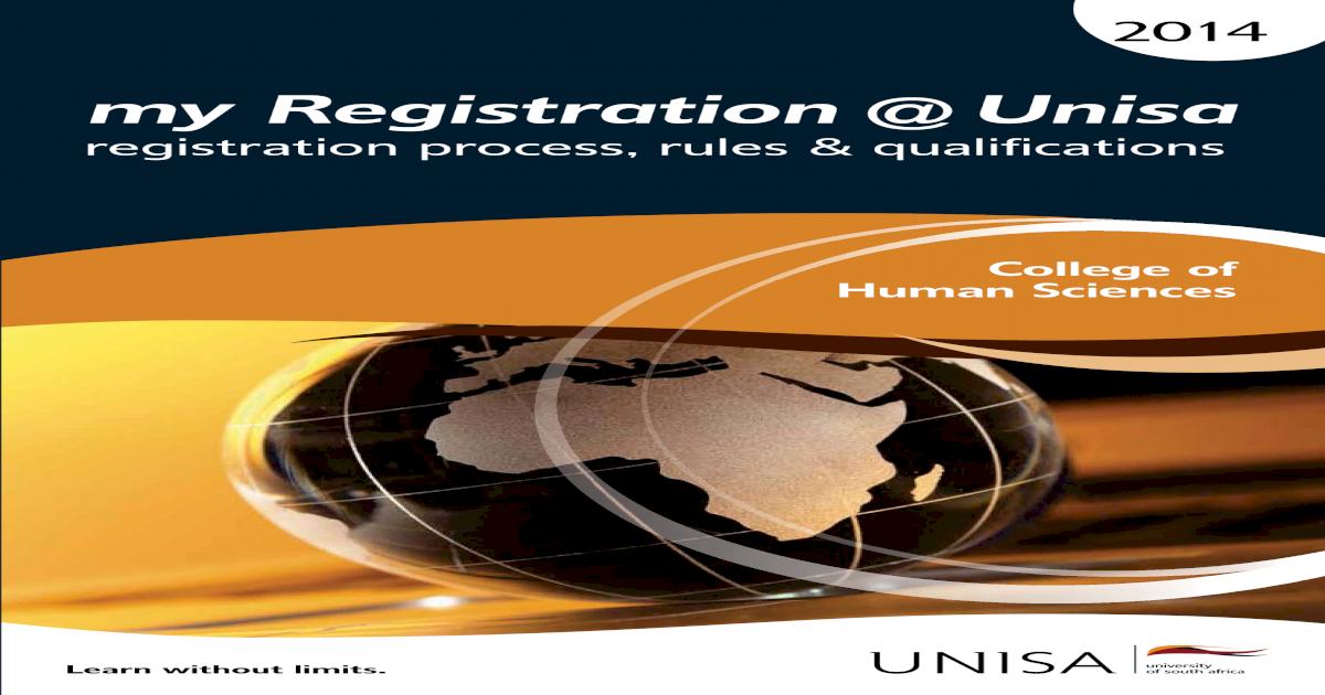 myregistration unisa 2014 chs pdf document