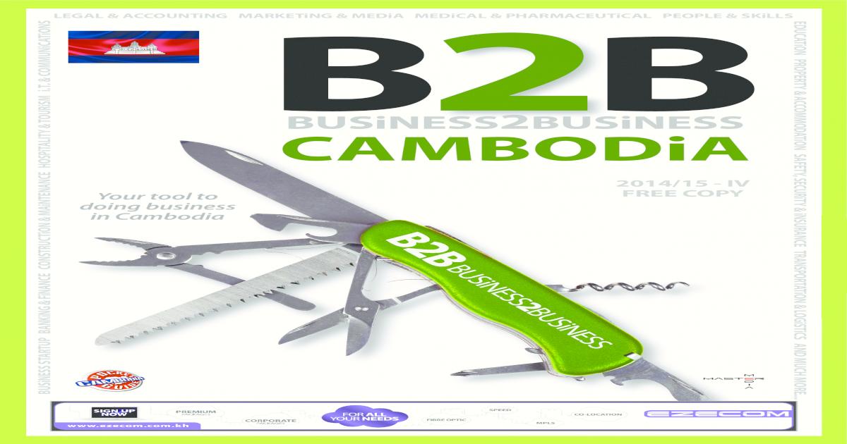 B2B CAMBODiA NOV 2014 - [PDF Document]