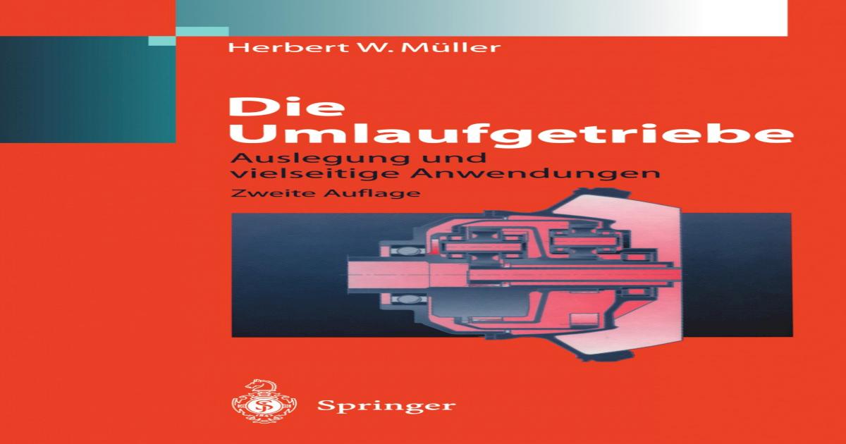 Konstruktionsbücher] Die Umlaufgetriebe Volume 28 || - [PDF Document]
