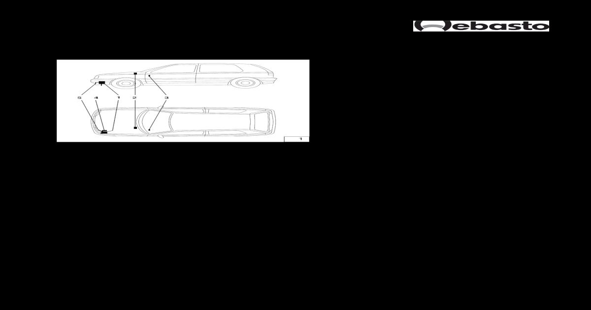 Webasto Thermo Top T Golf IV Einbauanleitung - [PDF Document]