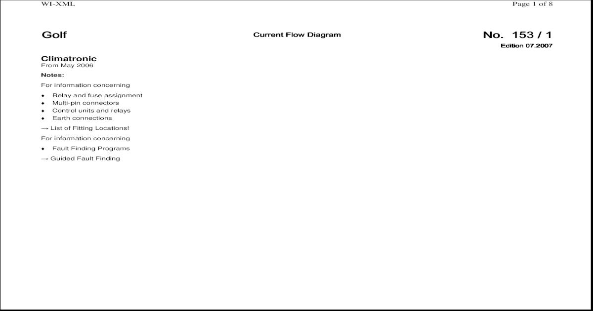 Current Flow Diagram VW GOLF V - J255 - [PDF Document]