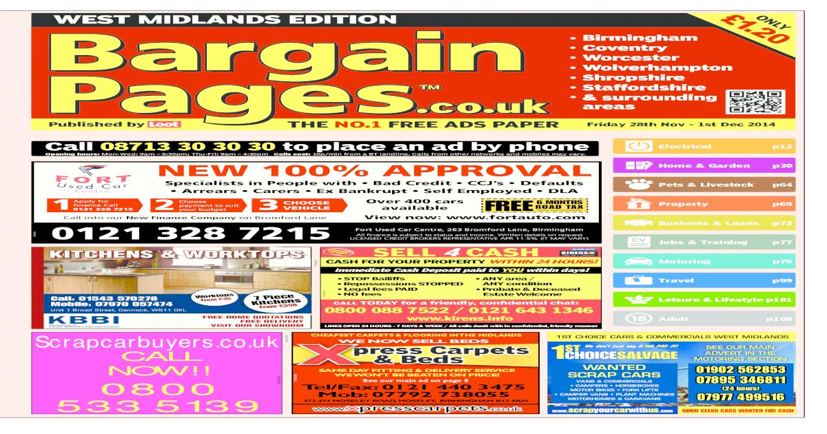 7c5e1c7c2 Bargain Pages West Midlands