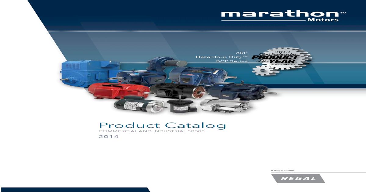 Marathon Motors General Catalog - [PDF Doent] on