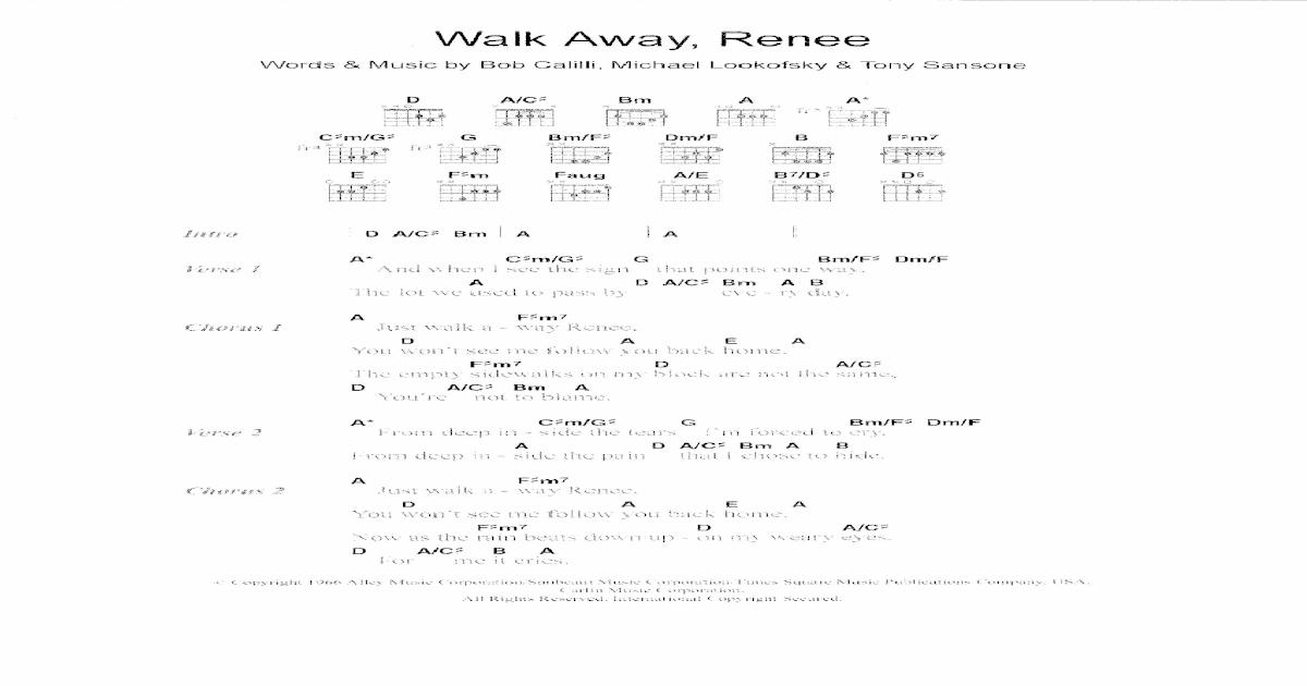 Walk Away Renee Guitar Chords Image collections - basic guitar ...