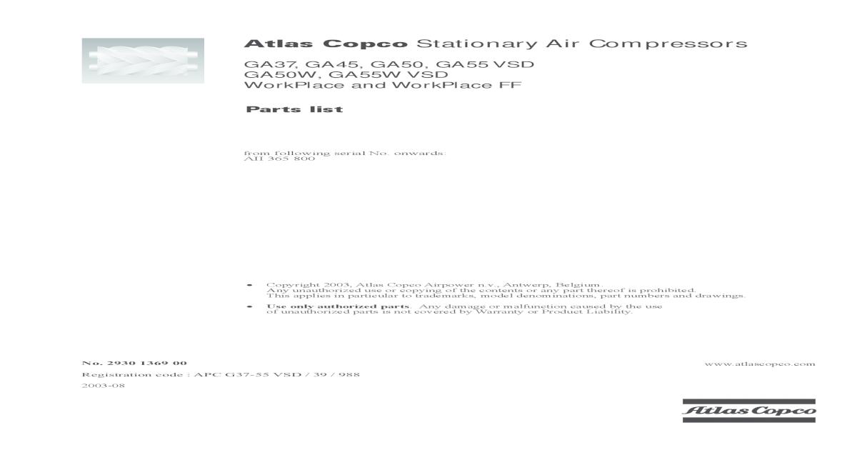 air compressor ga45 manual