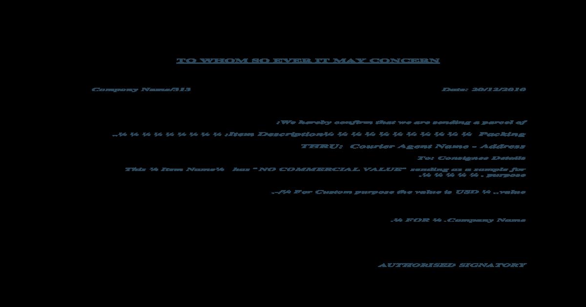 Sample letter for courier sending docx document spiritdancerdesigns Images