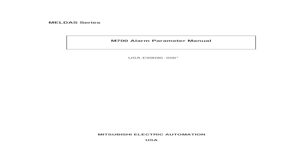 alarm parameter manual pdf document