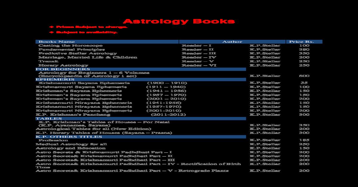 ashtakavarga system of prediction by b v raman, pdf