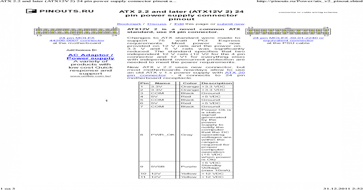 Atx Power Supply Pinout S - 4k Wiki Wallpapers 2018
