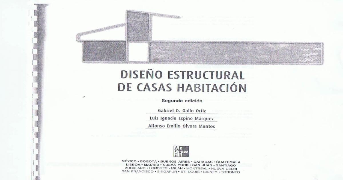 Dise o estructural de casa habitaci n gallo ortiz for Diseno estructural pdf
