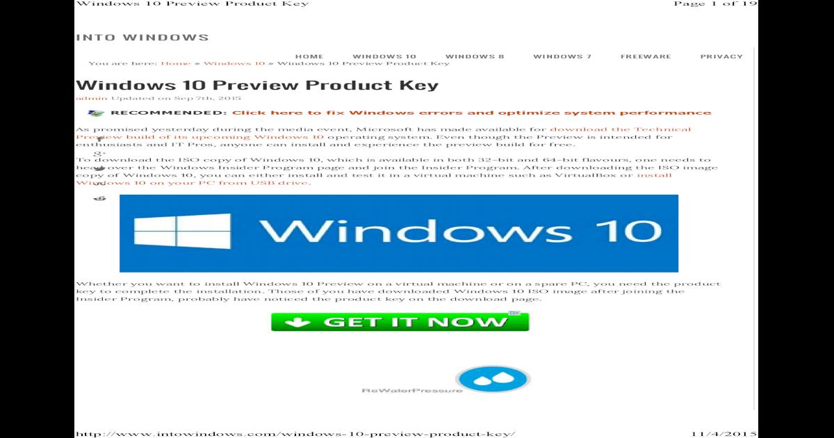 Windows 10 serial keys home pro enterprise pdf document ccuart Gallery