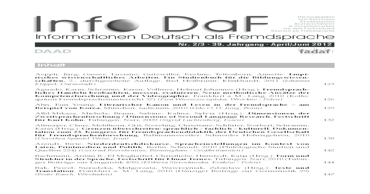 InfoDaF 2012 Heft 2-3 - [PDF Document]
