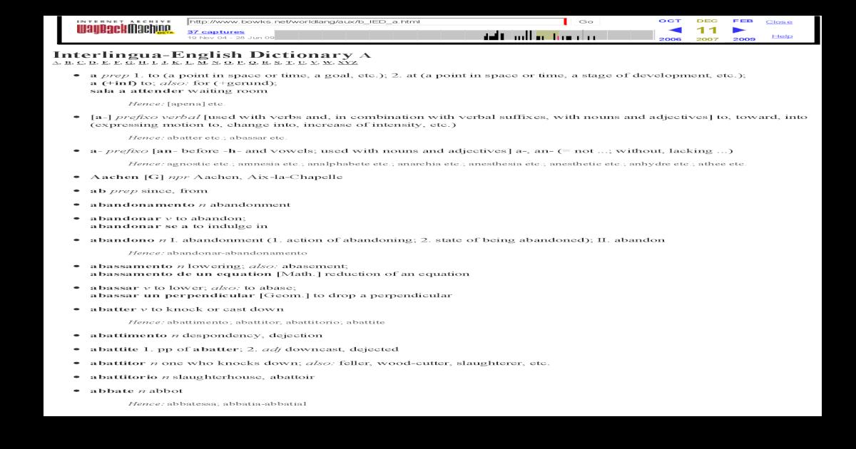 interlingua english dictionario dictionary pdf document