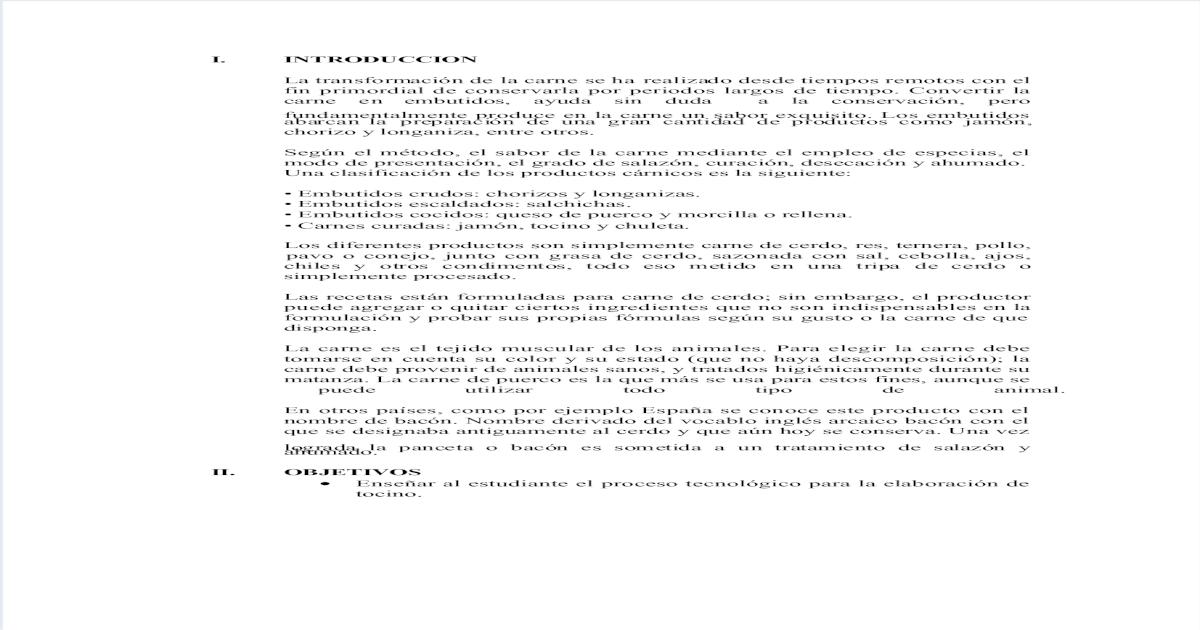 Imprimir elaboracion de tocino pdf document ccuart Gallery