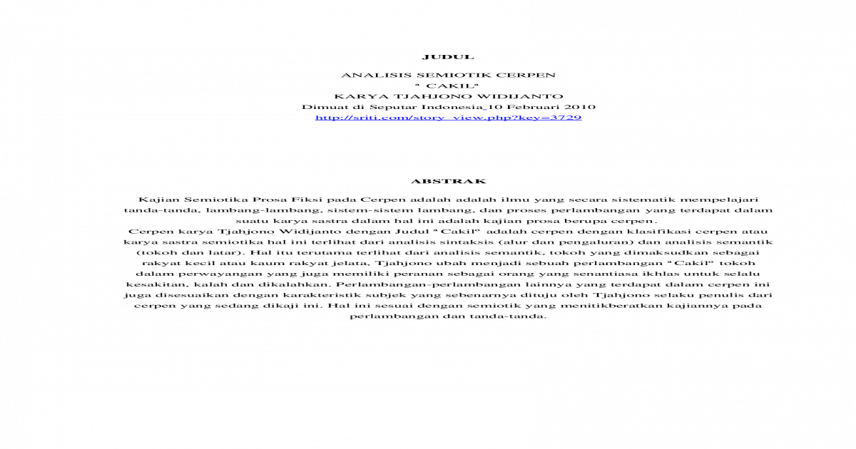 Semiotik Cakil Docx Document