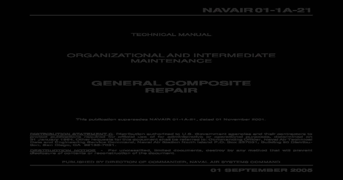 Composites Manual Navair 01 1a 21 Pdf Document