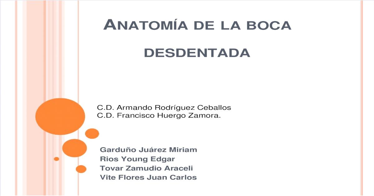 Anatomía de la boca desdentada - [PDF Document]