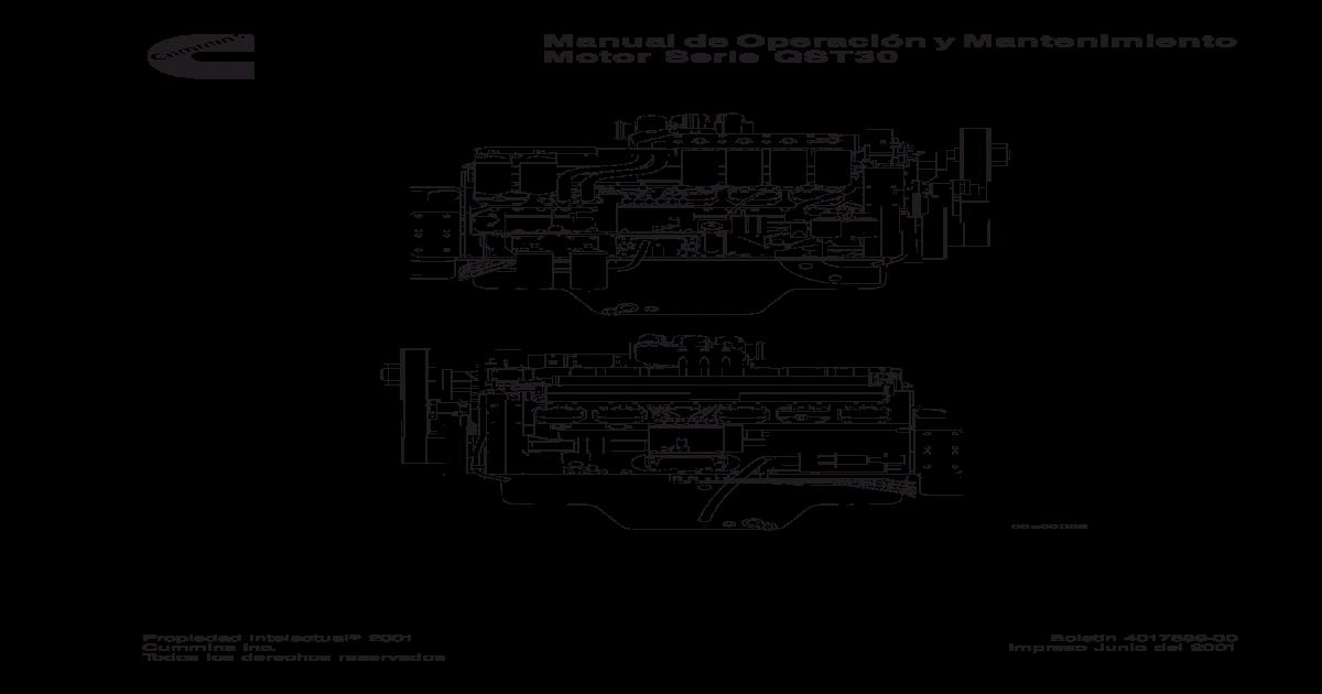 manual de servicio y operacion del motor cummins qst