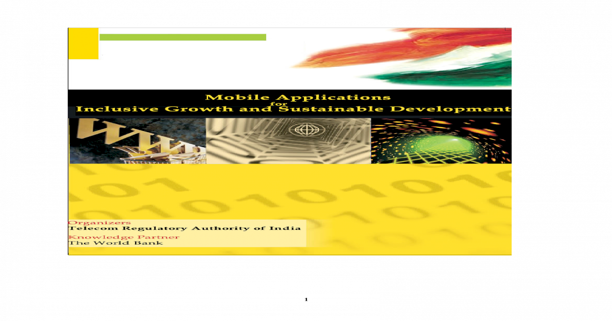 Mobile Applications for Inclusive Growth & Sustainable