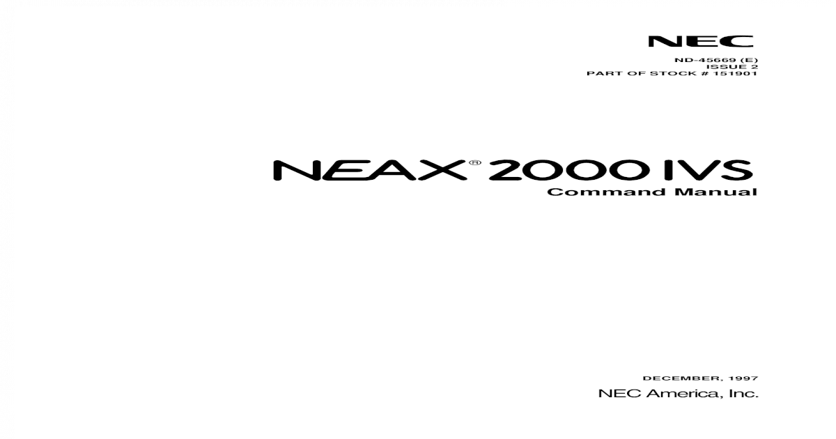 nec 2000 user guide user guide manual that easy to read u2022 rh mobiservicemanual today nec neax 2000 ips programming manual nec neax 2000 ips installation manual