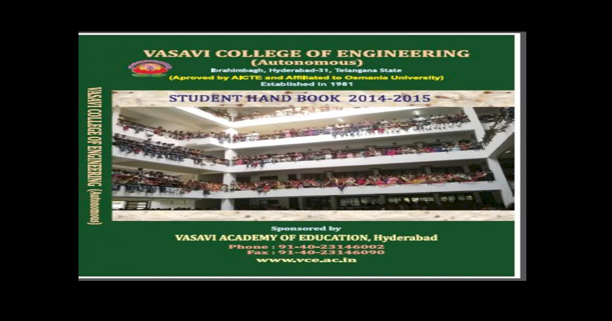 Vasavi College of Engineering - vce ac invce ac in/syllabus