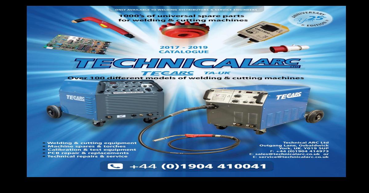 TECHNICAL ARC SERVICES 2005 CATALOGUE - Home - 2017-2019.pdf3 ...
