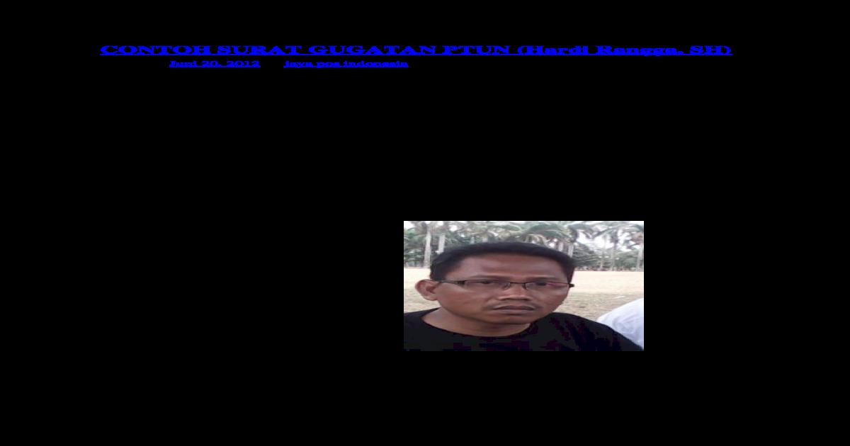 Contoh Surat Gugatan Ptun Docx Document