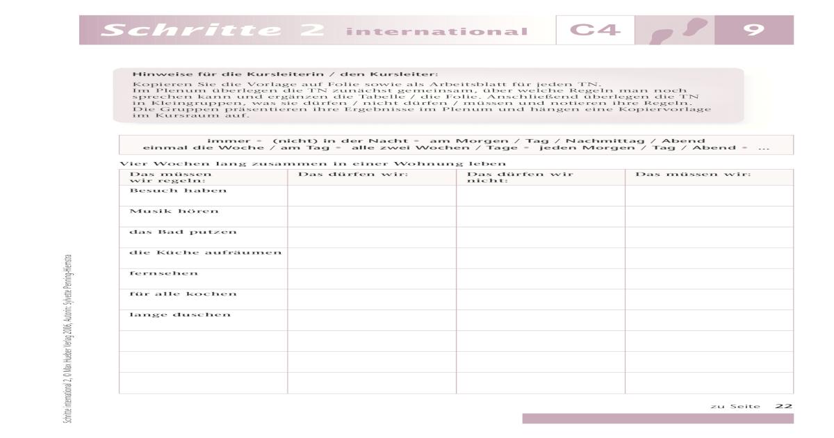 schritte international 4 Lektion 9 - [PDF Document]