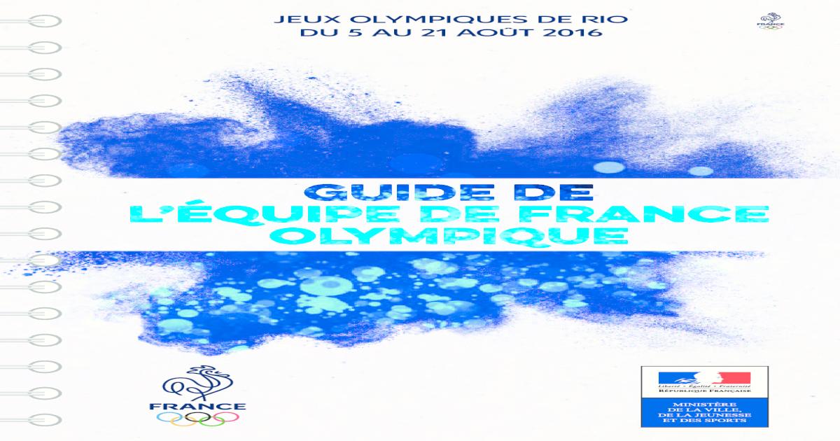 Guide De Lquipe France Olympique