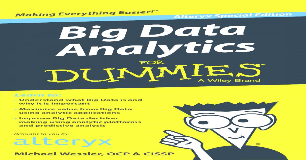 Big Data Analytics for Dummies - [PDF Document]