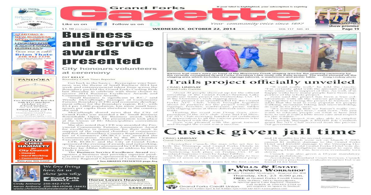 Grand Forks Gazette, October 22, 2014 - [PDF Document]