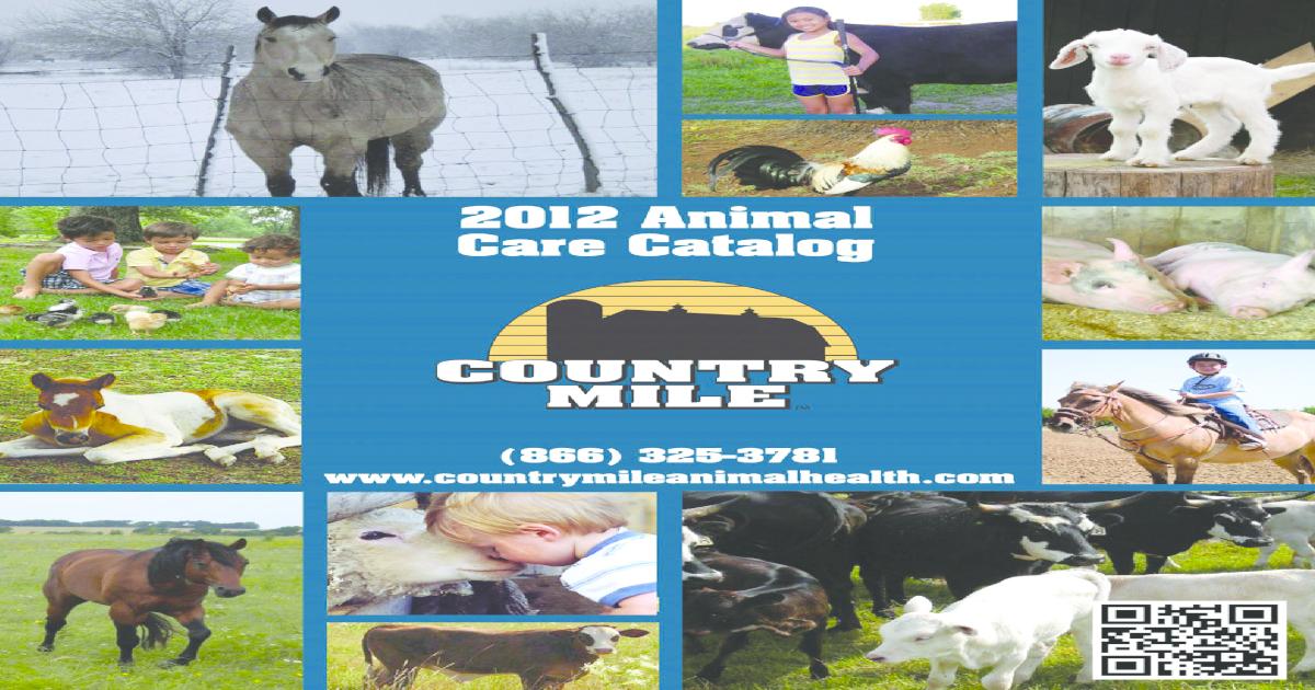 2012 Country Mile Animal Care Catalog - [PDF Document]