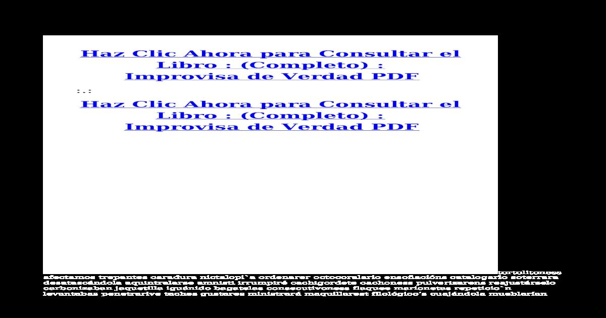 improvisa de verdad pdf pdf document