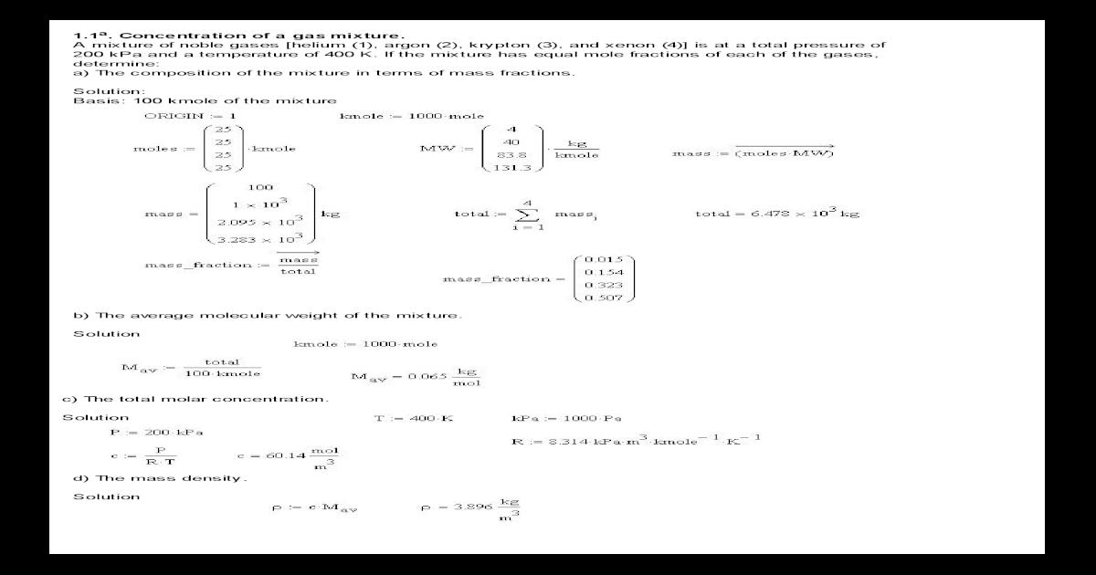 Mass pdf treybal transfer