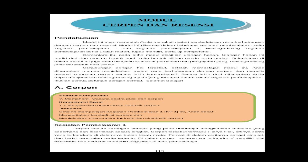 4 Cerpen Dan Resensi Doc Document