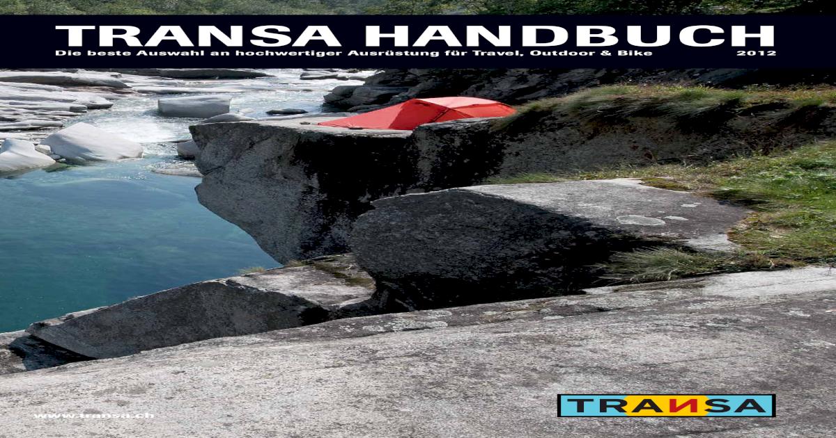Klettersteigset Transa : Transa handbuch 2012 [pdf document]