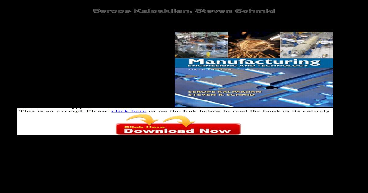 Kalpakjian Manufacturing Book Pdf