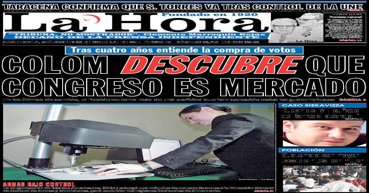 Diario La Hora 26 10 2011 Pdf Document