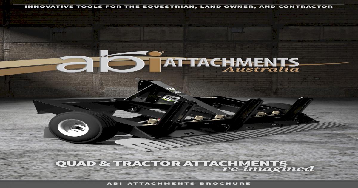 ABI Attachments Australia Brochure - [PDF Document]