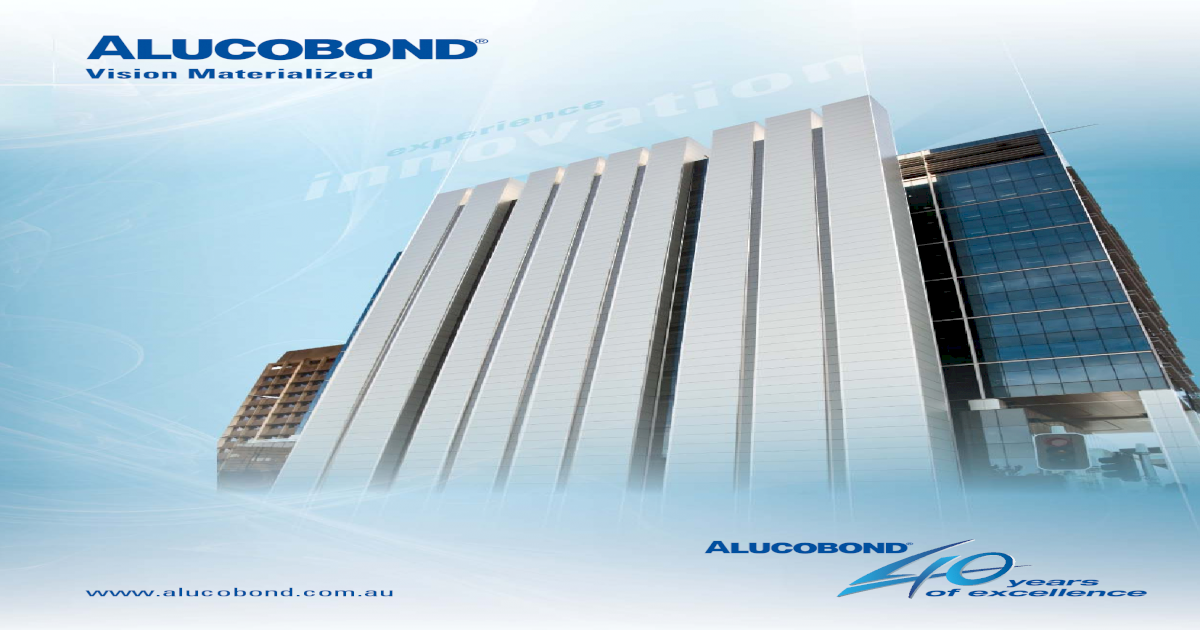 Alucobond Brochure 05-10 Lowres - [PDF Document]