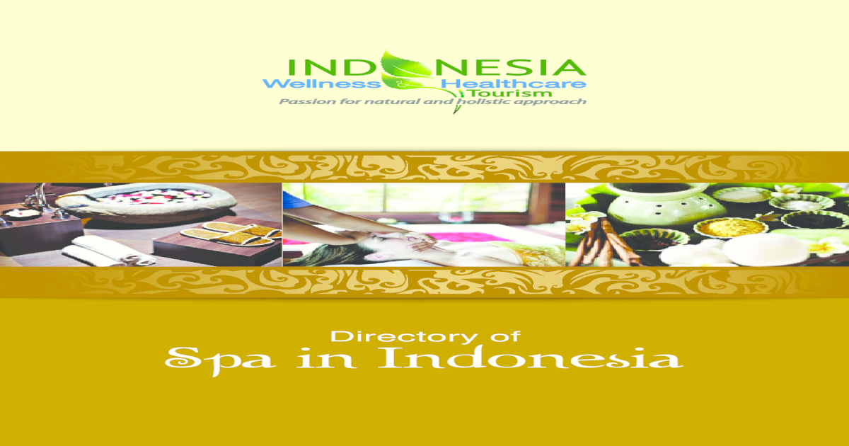 Directory Of Spa In Indonesia Pdf Document