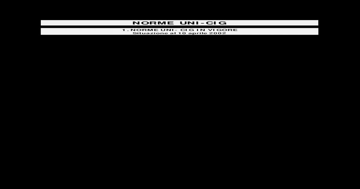 norma uni cig 7129 2001